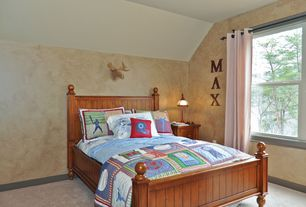 Country Kids Bedroom with Carpet