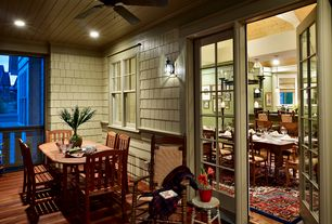 Cottage Porch with French doors, Screened porch