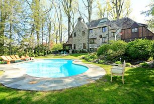 Traditional Swimming Pool with exterior stone floors, Casement, picture window, Other Pool Type