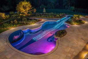 Contemporary Swimming Pool with exterior concrete tile floors, Pathway, exterior tile floors, Other Pool Type