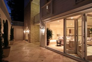 Traditional Patio with Deck Railing, French doors, exterior terracotta tile floors, exterior tile floors