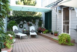 Patio with Fence, Trellis, French doors