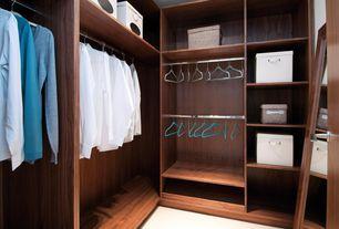 Contemporary Closet with flat door, Built-in bookshelf, Carpet, Standard height