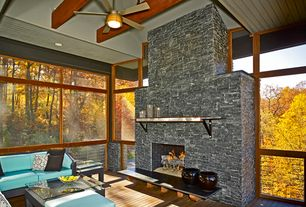 Contemporary Porch with Screened porch, picture window