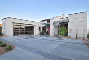 Contemporary Garage with Standard height, specialty window, picture window, specialty door, Concrete tile , flat door