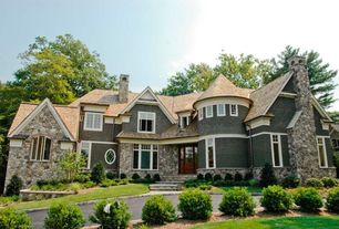 Cottage Exterior of Home with Paint, Natural stone wall
