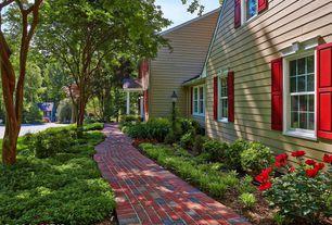 Traditional Landscape/Yard with exterior brick floors, Pathway, Royal Plum Full Range Mod Pavers