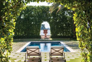 Mediterranean Swimming Pool with Pathway, exterior tile floors