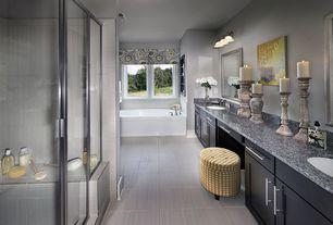Contemporary Master Bathroom with Flush, Undermount sink, Salerno Porcelain Tile - Nova Varos Series Madre Perla, Double sink