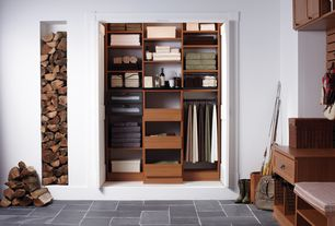 Contemporary Closet with Firewood storage, Custom closet built-ins, Home decorators collection calabria cognac