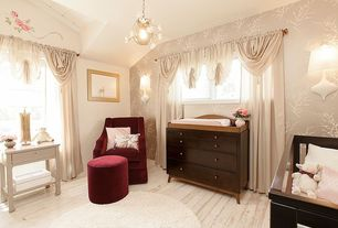 Traditional Kids Bedroom with no bedroom feature, cobble hill - hudson velvet armchair, Casement, Paint, Standard height