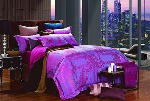 Eclectic Master Bedroom with Dolce mila cliodna dm471k fuchsia duvet bedding set