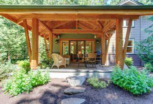 Craftsman Porch with Outdoor kitchen, Pathway, exterior tile floors, exterior terracotta tile floors