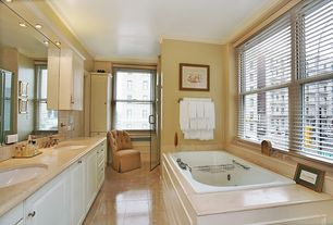 Traditional Master Bathroom with Double sink, Master bathroom, Kohler - artifacts, bathroom sink prong handles, Subway Tile