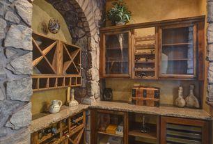 Mediterranean Bar with Built-in bookshelf, Standard height