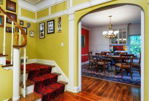 Traditional Entryway with High ceiling, Hardwood floors