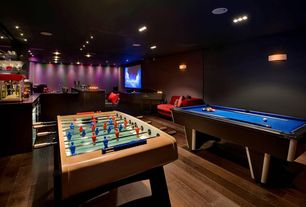 Modern Game Room with Livex Park Ridge 628 Wall Sconce - Vintage Bronze, Mizerak 8 ft. Donovan II Slatron Billiard Table