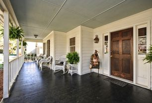 Cottage Porch with Deck Railing, Pathway, Pier 1 imports - santa barbara seating collection, six panel door, Screened porch