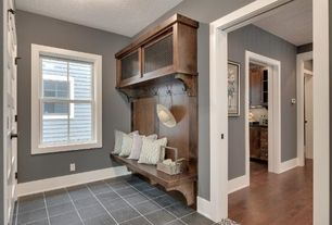 Traditional Mud Room with soapstone tile floors, Van Dyke's Restorers Kent Design 3/8 Inch Fluted Wire Grille