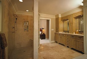 Traditional Master Bathroom with Athena, glazed porcelain floor and wall tile, Paint 1, Paint 2