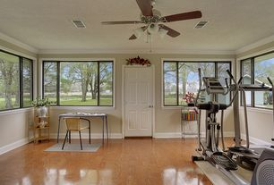 Traditional Home Gym with Crown molding, Pella Encompass 6 Solid Panel Entry Door, Yowza fitness captiva elliptical