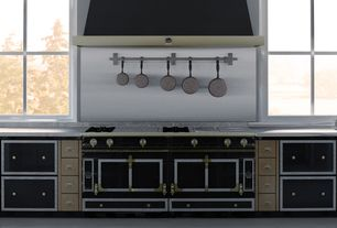 Traditional Kitchen with Deluxe magnetic knife bar, Simple granite counters, La Cornue - Grand Palais 180, Simple Granite