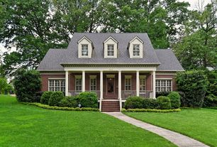 Traditional Porch with exterior tile floors, French doors, Pathway, Screened porch, double-hung window, Deck Railing