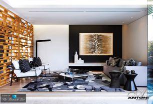 Contemporary Great Room with Built-in bookshelf, Surya Cosmopolitan COS9153 Indoor Area Rug - Beige (8 x 11 ft)