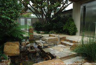 Contemporary Landscape/Yard with French doors, Gate, Barn door, Pathway, Oklahoma Flagstone, Oklahoma Flagstone Steps, Fence