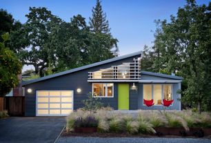 Contemporary Exterior of Home with Paint, Concrete driveway, Paint 2
