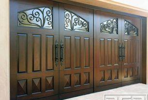 Traditional Front Door with exterior stone floors, Gate, Glass panel door
