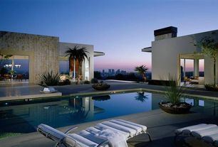 Contemporary Swimming Pool with picture window, Other Pool Type, exterior tile floors, exterior concrete tile floors