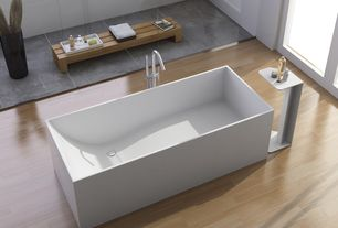 Asian Master Bathroom with Standard height, Freestanding, Bathtub, Hastings atmosfere rectangular free standing tub