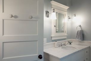 """Traditional Master Bathroom with American imaginations 24"""" wide x 30"""" high surface mount medicine cabinet in white, Paint 1"""
