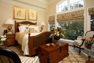 Traditional Guest Bedroom with Home decorators maldives trunk, Crown molding, Home Styles - Marco Island Panel Bed
