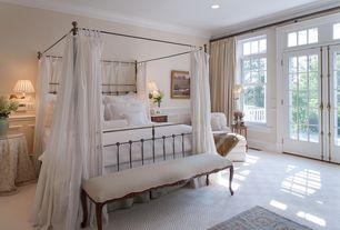 Traditional Master Bedroom with Wilmette lighting drake traditional restoration wall sconce, Vintage hardware - door bolt