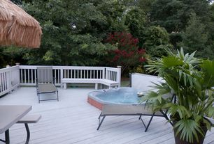 Tropical Deck with Outdoor lounge, Paint, Hottub, Deck Railing
