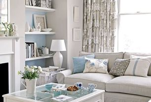 Traditional Living Room with Ethan Allen Bennett Roll-Arm Sectional