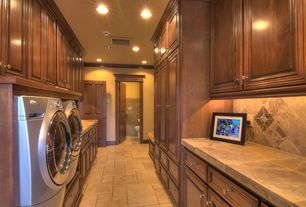 Traditional Laundry Room with Daltile Travertine Stratford Place in Willow Branch