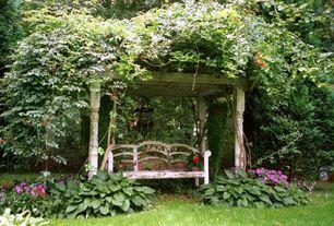 Cottage Landscape/Yard with Trellis