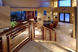 Modern Staircase with Concrete tile , High ceiling, Floating staircase