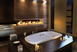 Contemporary Master Bathroom with Wall mounted light, Wall sconce, Master bathroom, Contemprary gas fireplace