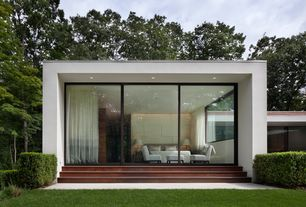 Modern Exterior of Home with Specht harpman architects, New canaan house, exterior tile floors, Exterior concrete