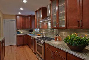 Contemporary Kitchen with Amedeo Design Lava Bowl Planter, Hardwood floors, Complex granite counters, Kitchen island, Flush