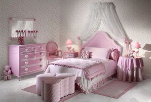 Traditional Kids Bedroom with Overstock.com Pink/ White Flower Dresse, Tile-stones.com Crate Series - Colonial White