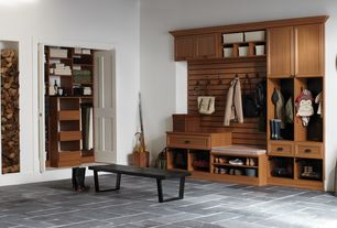 Traditional Mud Room with Martha Stewart Living 72 in. Hanging Wild Cherry Starter Closet Kit