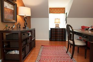 Traditional Home Office with Standard height, Laminate floors
