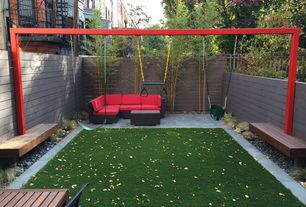 Contemporary Landscape/Yard with Manhattan outdoor coffee table, exterior tile floors, Fence