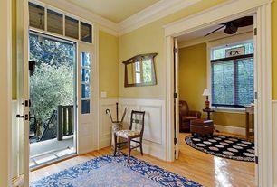 Traditional Entryway with Oak - Seashell 2 1/4 in. Solid Hardwood Strip, Hardwood floors, Crown molding, Wainscotting