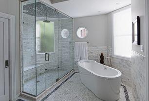 Contemporary Master Bathroom with Master bathroom, Rain shower, Signature hardware eden acrylic tub, Freestanding